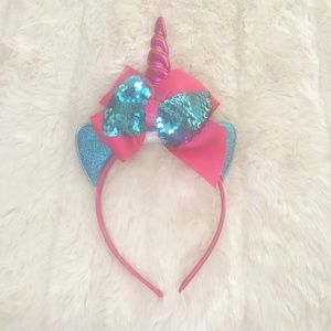 Pink and Blue Unicorn Headband (new)